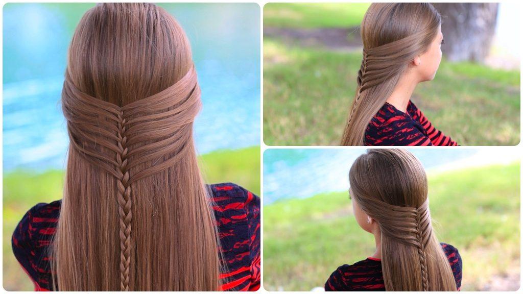 Причёски для девочек на длинные волосы в школу пошагово