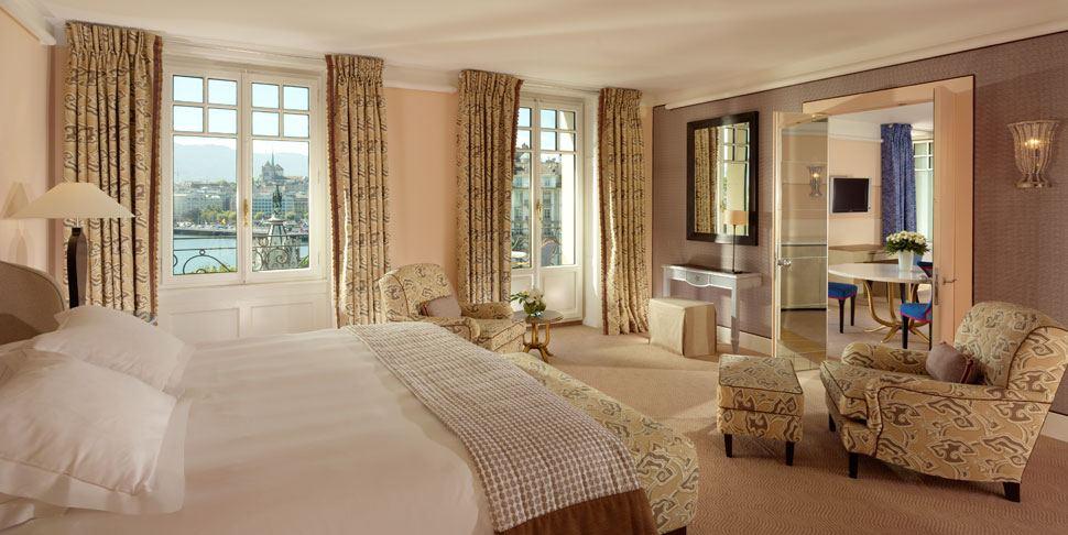 Royal Armleder Suite Le Richemond, Geneva- bedroom area