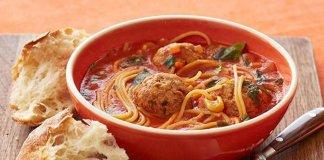 Tasty One-Pot Baked Spaghetti and Meatballs Recipe
