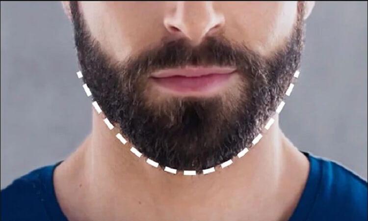 How to shape beard neckline